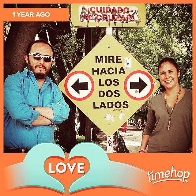 Aquí los dos hace un año #timehop