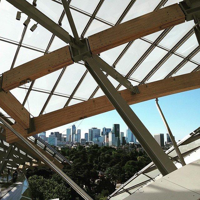 La Fundación Louis Vuitton tiene una vista increíble de París.