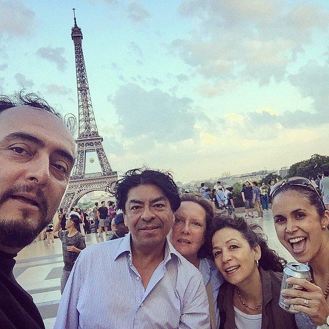 Fin de semana en París con amigos entrañables de hace mil años. Alberto, Fanny, Eunice y la hermosa Laura.  París.