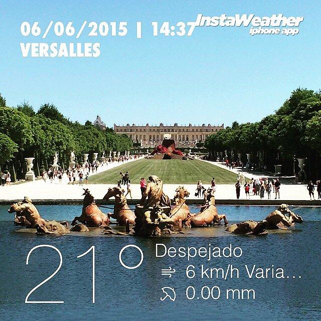 Gran tarde con amigos en Versalles. #parís