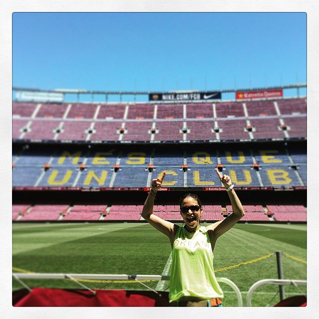 Lau en el Estadio del Barça. Otro sueño cumplido. Besos. #Barcelona #Barça
