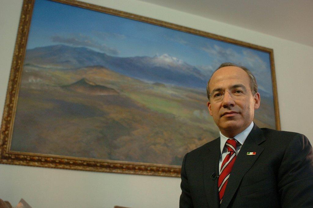 Calderón en Los Pinos