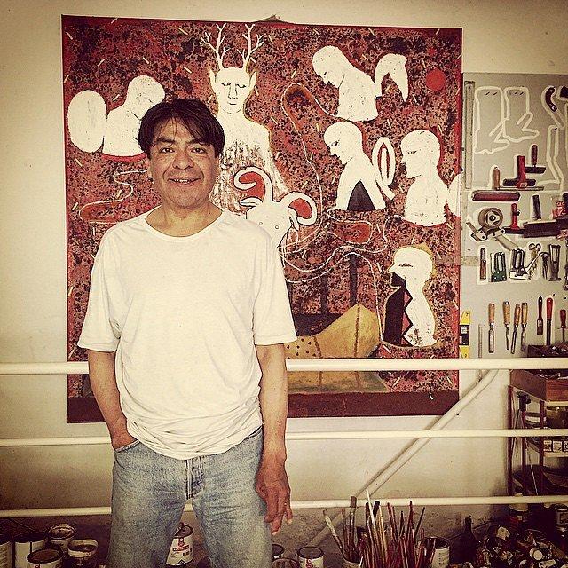 Alberto Ramírez, pintor oaxaqueño en París. Amigo entrañable de mucho, muchos años. #parís